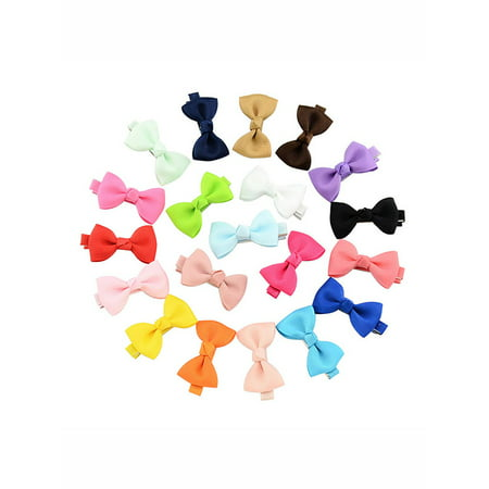 Coxeer 20Pcs Hair Barrettes Bows Claw Clips Hair Clips for Girls Baby