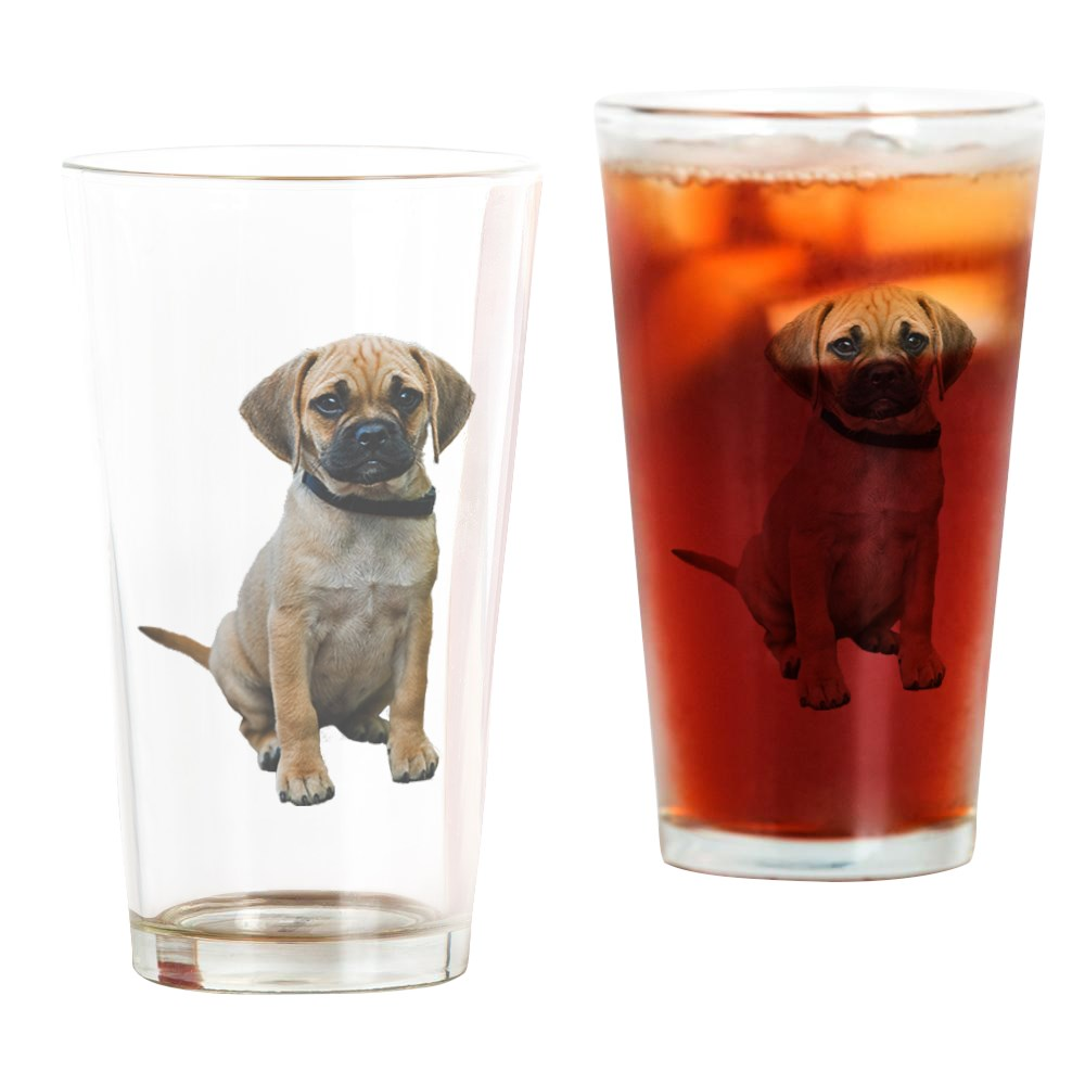CafePress Puggle Pint Glass Pint Glass, Drinking Glass, 16 oz. CafePress by