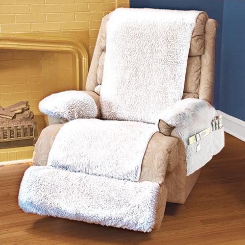 Washable 4 piece ultra soft cream recliner fleece cover walmart com
