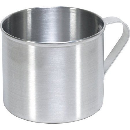 IMUSA USA Aluminum Mug for Stovetop Use or Camping 0.7 Quart, Silver