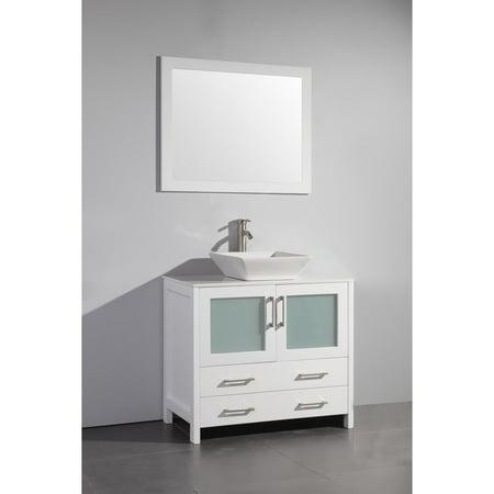 Ceramic Bathroom Vanity - Vanity Art  36 Inch Single Sink Bathroom Vanity Set With Ceramic Top