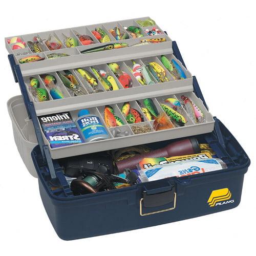 Plano Extra Large Three Tray Box, Blue Silver by Plano Molding Company