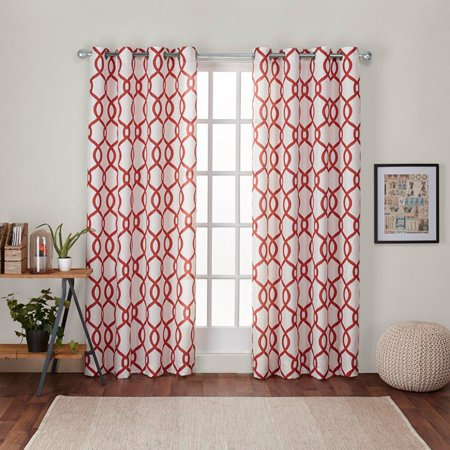 Exclusive Home Curtains 2 Pack Kochi Linen Blend Grommet Top Curtain Panels ()