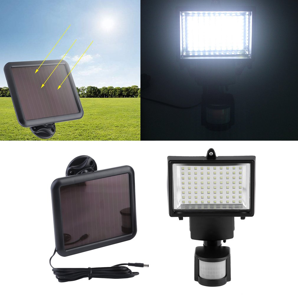 Solar Security Lights Solar Powered Security Light With Motion Sensor 80 LED Waterproof Flood Light