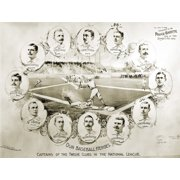 Baseball, 1895. /Nportraits Of The Captains Of The Twelve Baseball Clubs In The National League, 1895. Poster Print by Granger Collection