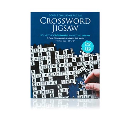 Crossword Jigsaw Puzzle 2nd Edition - 550 Piece 2-in-1 Puzzle Game for Adults - image 1 de 1