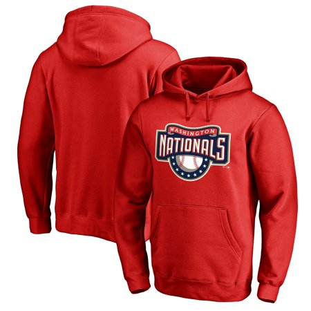 Washington Nationals Fanatics Branded Cooperstown Collection Huntington Pullover Hoodie - Red