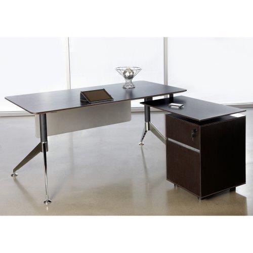 Jesper 300 Collection L-Shaped Computer Desk - Espresso