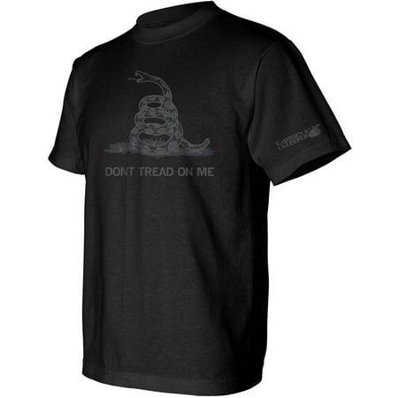 Big Mens Dont Tread On Me Gadsden Dark Ink Tee Shirt