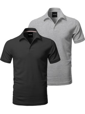 7d1c275e Product Image FashionOutfit Men's Solid Short Sleeves Basic Side Slit Polo  Shirt