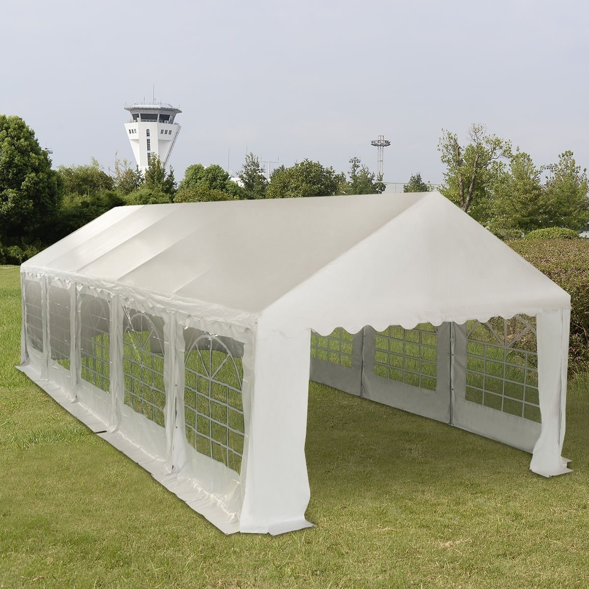New 13'X32' Wedding Tent Shelter Heavy Duty Outdoor Party Canopy Carport White by MTN Gearsmith