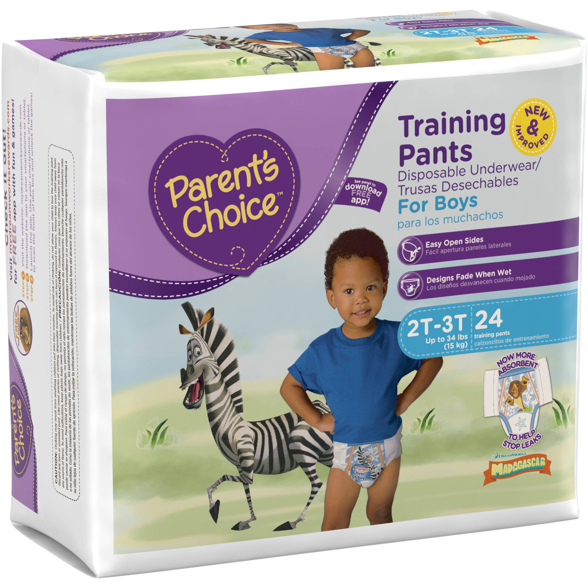 Parent's Choice Training Pants for Boys, Jumbo Pack (Choose Your Size)