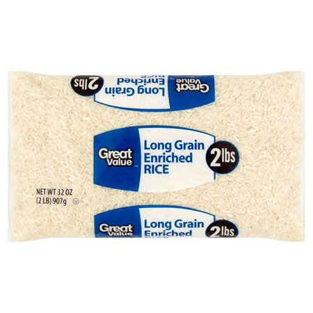 Great Value Long Grain Enriched Rice  32 Oz
