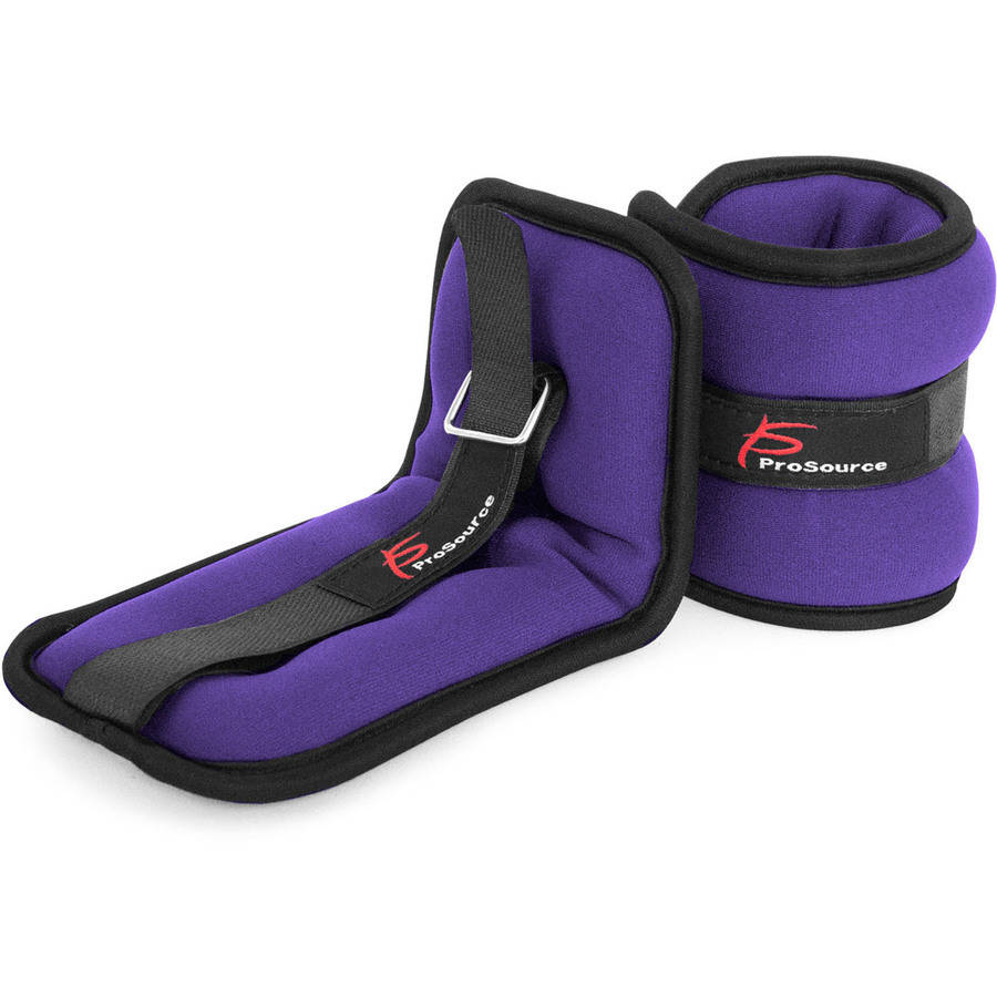 : ProSource Ankle Weights Set of 2, Adjustable Comfort Fit 1 to 5 pounds, for Women, Men, or Children by Prosource