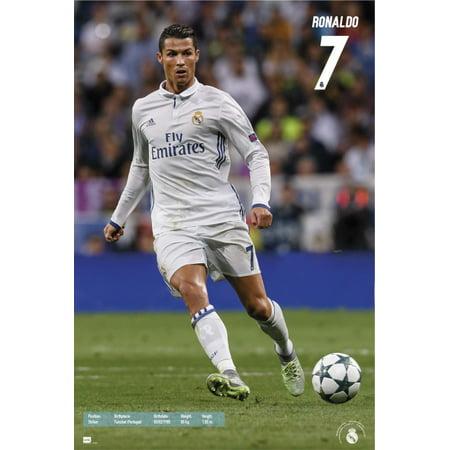 Cristiano Ronaldo Poster - Real Madrid 2016-2017 Ronaldo Action Poster Poster Print