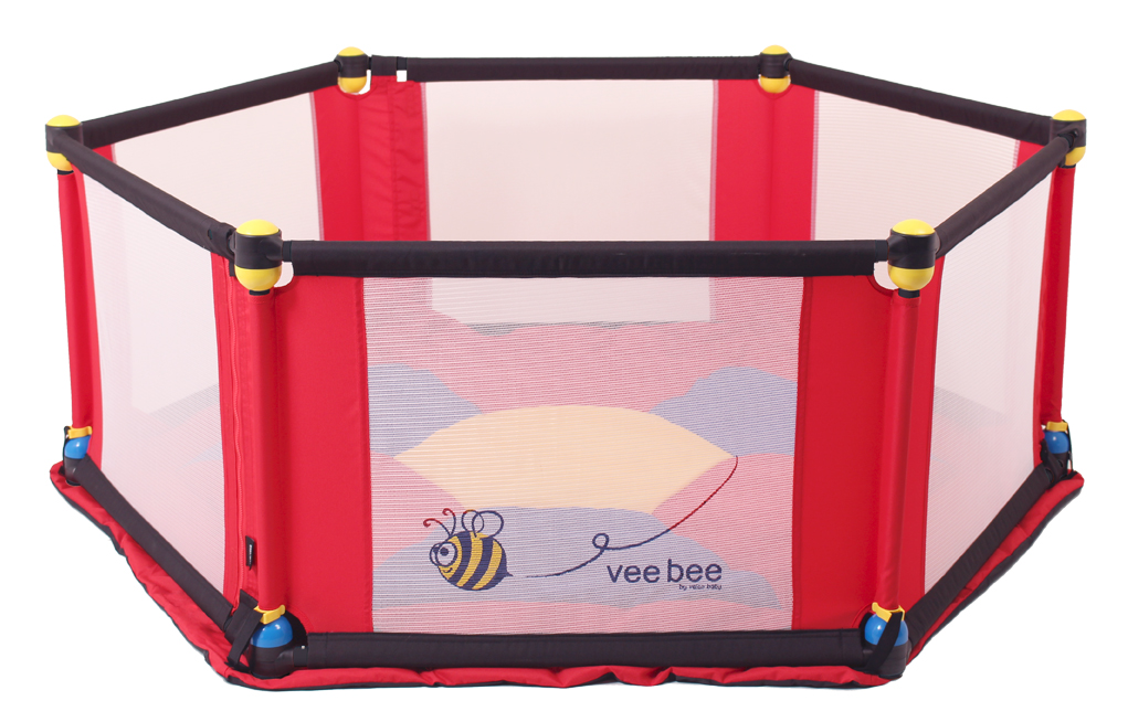 Vee Bee 6 Sided Play Pen Large (Multicolored) by Vee Bee by Valco Baby