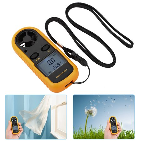 Anemometers Handheld Wind Speed Meter,Portable Wind Gauges Air Flow  Thermometer Tester,Mini Size & Handheld Anemometer with LCD Backlight for