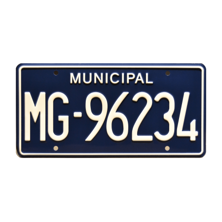 The Walking Dead | Rick Grimes King County Sheriff Car | MG-96234 | Metal Stamped Replica Prop License Plate - The Walking Dead Car Accessories