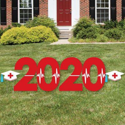 Nurse Graduation 2020 Yard Sign Outdoor Lawn Decorations Graduation Party Yard Signs 2020 Walmart Com Walmart Com