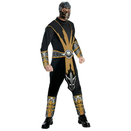 Mortal Kombat Scorpion Costume for Adults](Mortal Kombat Characters Costumes)