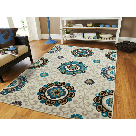 Century Rugs Gray Area Rugs For Living Room 8X10 Under100 Cream Modern Rugs Blue Kitchen Rugs Floor Rugs Clearance Large 8X11