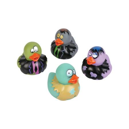 Toy Zombie Frankenstein Ducks Vinyl Set Of 12 Costume Accessory](Costume Dick)