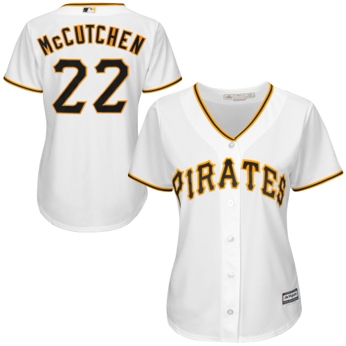 Andrew McCutchen Pittsburgh Pirates Majestic Women's Cool Base Player Jersey - White