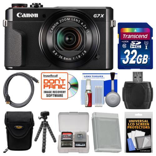 Canon PowerShot G7 X Mark II Wi-Fi Digital Camera with 32GB Card + Case + Battery + Flex Tripod + Kit by Canon