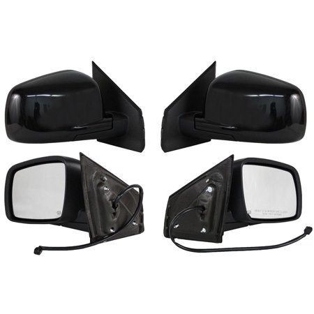 NEW PAIR POWER NON-HEAT SIDE MIRROR FITS CHEVROLET 2002 C3500 92-99 SUBURBAN GM24EL (Chevrolet Suburban Mirrors)