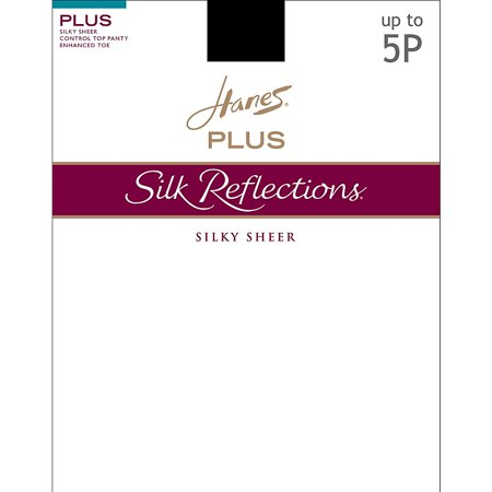 Silk Reflections Plus Sheer (Silk Reflections Plus Sheer Control Top Enhanced Toe Pantyhose )