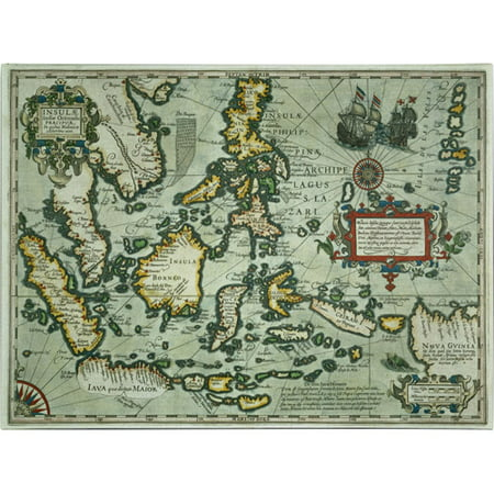 Trademark Art 'Map of the East Indies, 1635' Canvas Art