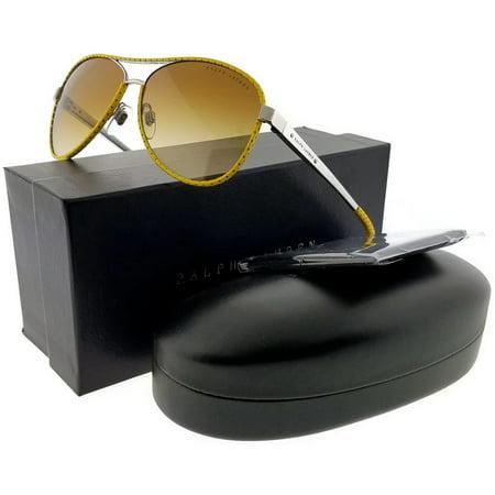 Ralph Lauren RL7050Q-93002L Women's Yellow Frame Brown Lens Genuine (Ralph Lauren Lenses)