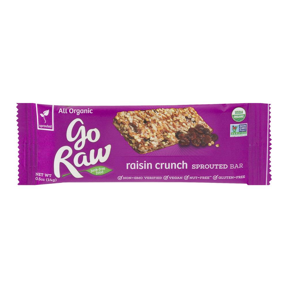 Go Raw Raisin Crunch Sprouted Bar, 0.5 OZ
