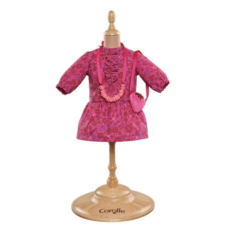 Corolle Mademoiselle Poupee 14 in. Flower Dress & Accessories Doll Ensemble