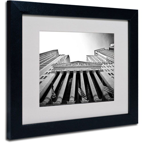 Trademark Art 'The New York Stock Exchange' Matted Framed Art by Yale Gurney
