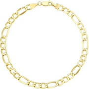 Simply Gold 10kt Yellow Gold Figaro Bracelet, 8""