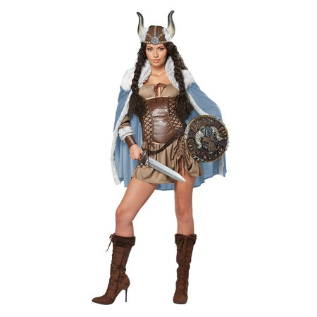 Adult Female Viking Vixen Costume by California Costumes 01336 (Viking Costume For Women)