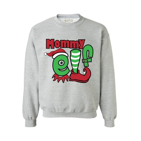 Awkward Styles Mommy Elf Sweashirt Christmas Elf Sweater Ugly Christmas Sweater Women Matching Family Christmas Pajamas Elf Suit for Mom Funny Christmas Gifts for Mom Tacky Christmas Ugly