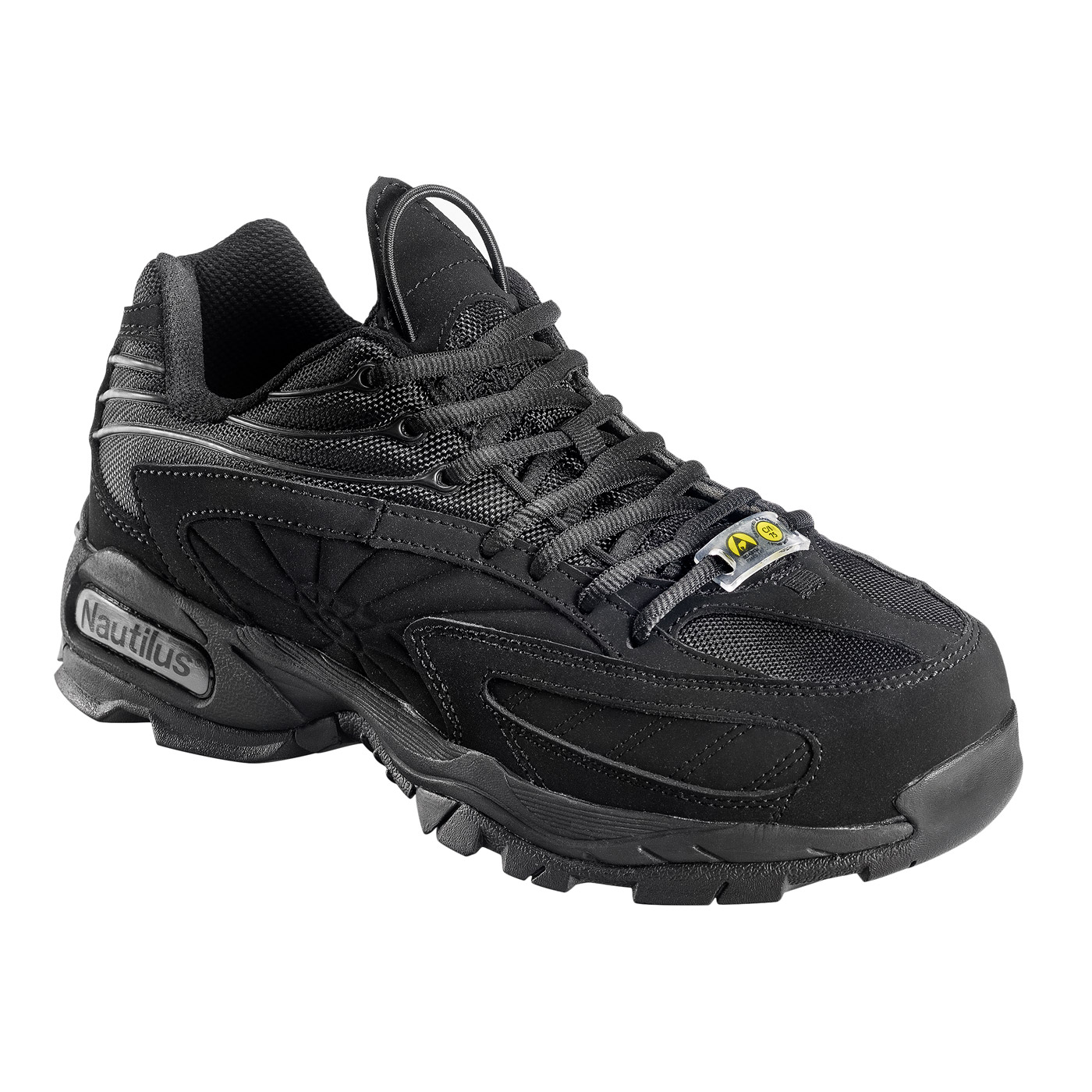 Black Steel Toe ESD Safety Work Shoe