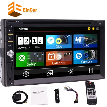 7 Inch Double Din Car Autoradio DVD Player In Dash Car Stereo Receiver GPS Navigator with 3 UIs Capacitive Touch Screen Bluetooth 1080P Video Player AM/FM Radio USB SD Cam-IN + Free Wireless Remote - Navigator 900 Bluetooth