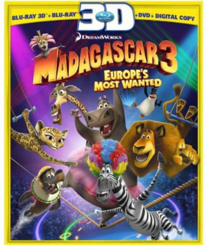 Madagascar 3: Europe's Most Wanted (3D Blu-ray + Blu-ray + DVD + Digital Copy)