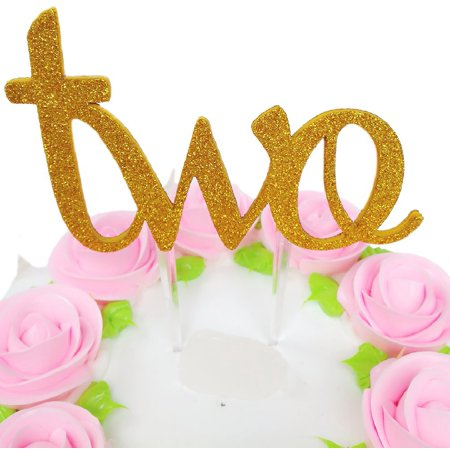 Sweet Heart 2nd Birthday Cake Topper Decoration