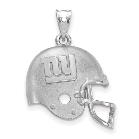 New York Giants Sterling Silver Football Helmet Pendant - No Size