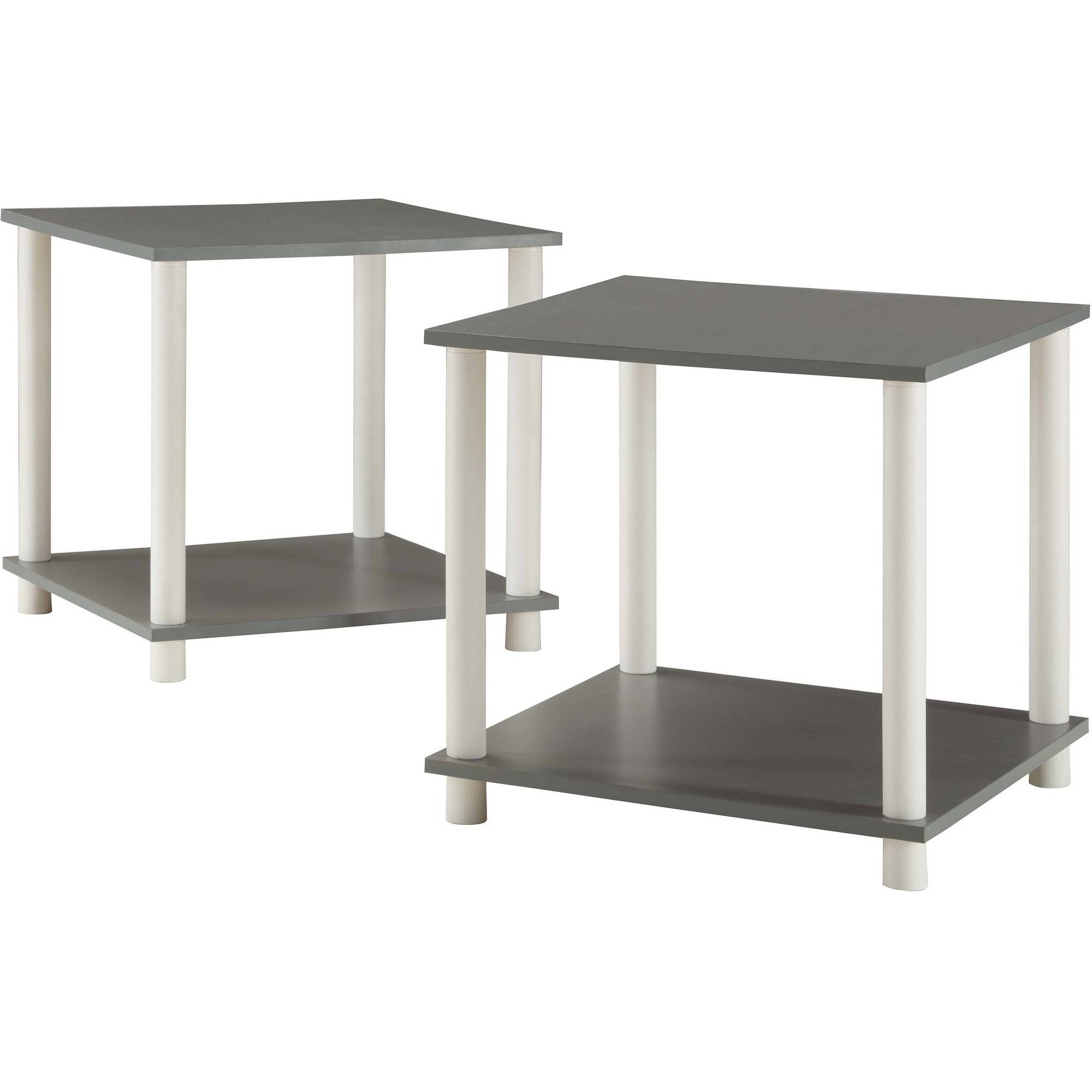 size 40 6dde6 87ad9 Mainstays No Tools 2-Pack End Table, Solid Black - Walmart.com