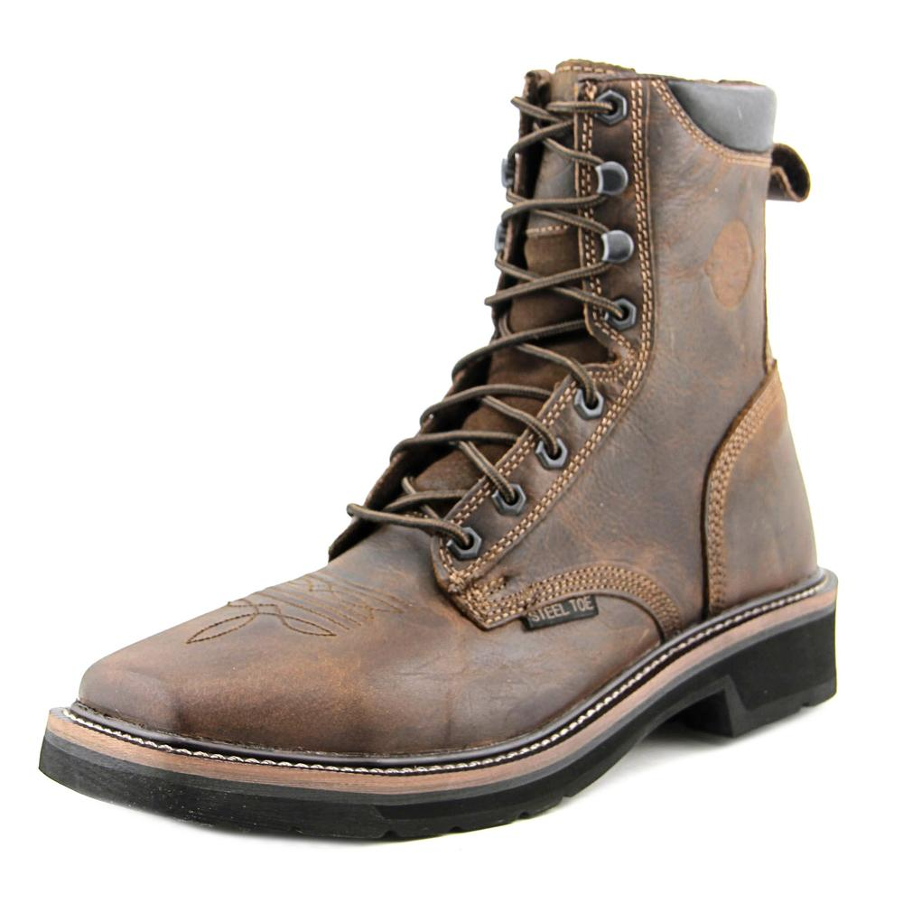 Justin Boots WK682 Men Steel Toe Leather Work Boot by Justin Boots