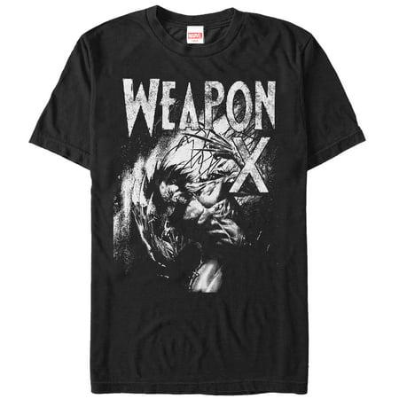 Marvel Men's X-Men Wolverine Weapon X Grayscale - Wolverine T Shirt