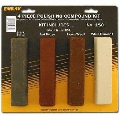 4 Piece Polishing Compound Buffing Rouge Sticks Polish Bars