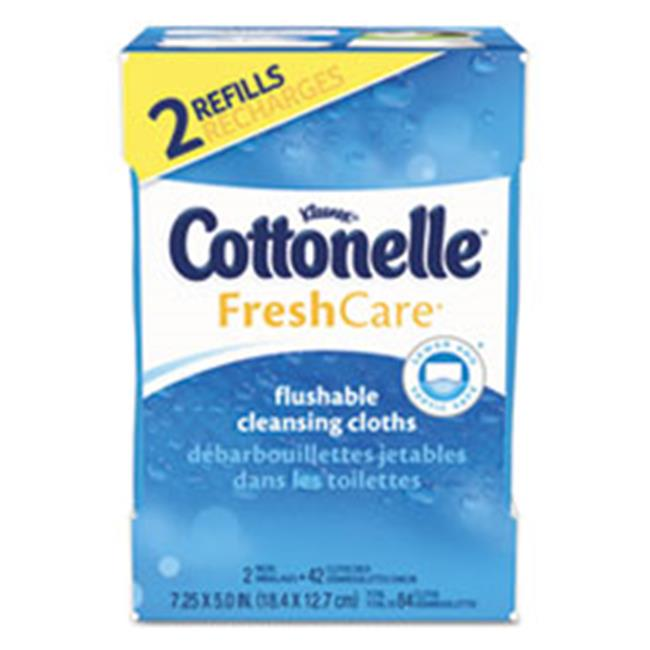 Kimberly Clark Consumer 35970CT Fresh Care Flushable Cleansing Cloths, White