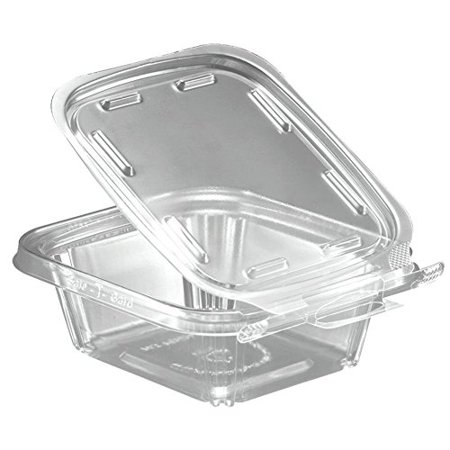 - Safe T Fresh 8 OZ Plastic Clear Hinged Container with Hanger (Pack of 144)