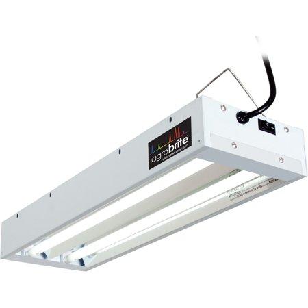 - Hydrofarm Agrobrite 48W 2-Tube Fluorescent Fixture + Lamps, 3-Way Hang | FLT22